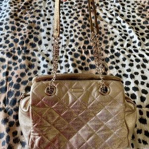 Kate Spade quilted Gold bag with golden chain